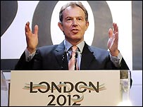 Prime Minister Tony Blair has lent his full backing to London's bid