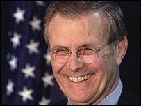 US Defence Secretary, Donald Rumsfeld
