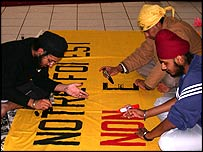 Sikhs prepare for protest