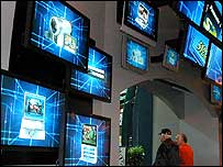 TV displays at the Consumer Electronics Show in Las Vegas