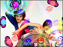 Screenshot of EyeToy Groove