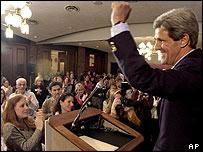 Democratic presidential hopeful Senator John Kerry