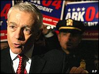 Democratic presidential hopeful retired General Wesley Clark