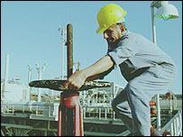 Oil worker in Iraq