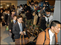 Japanese Soldiers leaving for Iraq