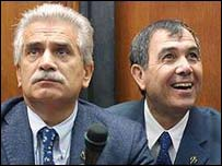 Severino Antinori (left) and Panos Zavos