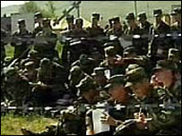 Georgian and US troops in joint training, September 2002