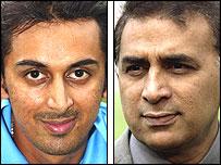 Rohan and Sunil Gavaskar