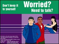 The booklet, 'Worried? Need to talk?'
