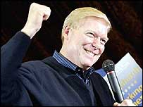 Dick Gephardt at a rally in Davenport, Iowa