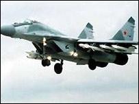 Russian MiG-29 combat jet