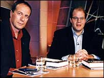 Tom Paulin, left, with Late Review presenter Mark Lawson