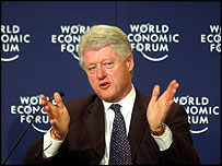 Bill Clinton at the WEF in Davos 2003 ©World Economic Forum
