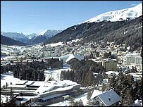 Snow covered Davos village �World Economic Forum