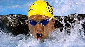 Australian Ian Thorpe is one of the top swimmers in the World