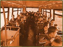 Schoolchildren on bus