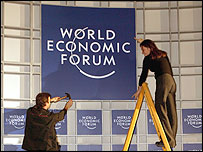 WEF sign being erected in Davos � World Economic Forum