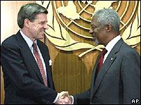Paul Bremer y Kofi Annan