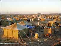 Tented city of Kurds outside Kirkuk