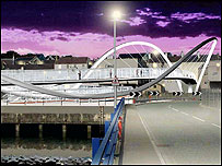 An artist's impression of the Celtic Gateway link bridge