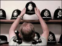 Police helmets, PA
