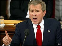 President Bush making his State of the Union speech