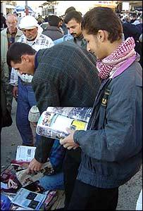 Buying Western magazines at a Kirkuk market