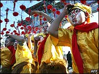 Children dressed as the mythical Monkey King in Beijing