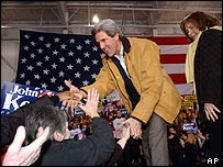 John Kerry after Iowa win