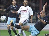 Lee Wilkie in action against Perugia