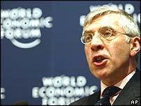 Jack Straw speaking at the World Economic Forum
