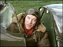 Raymond Baxter in a spitfire