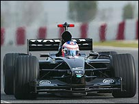 Jenson Button testing at Barcelona on Wednesday