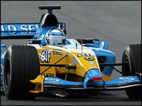Jarno Trulli in the new Renault R24 Formula One car