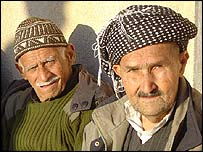 Men in Sulaymaniyah's main square
