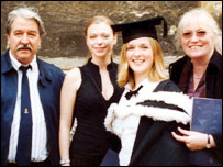 From left: David Evans, with daughters Emily and Laura and wife Jane