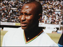 Zimbabawe's Peter Ndlovu