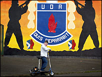 Police said the UDA was behind a series of security alerts