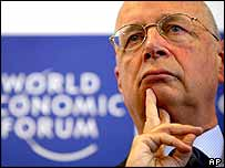 Klaus Schwab, founder and president of the World Economic Forum