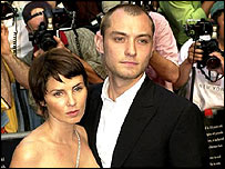 Jude Law and Sadie Frost