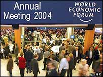 Delegates at the WEF in Davos