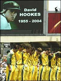 The Australia cricket team honour David Hookes