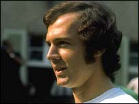 Franz Beckenbauer of West Germany
