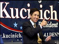 Dennis Kucinich has urged Muslims to vote as a block