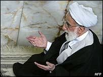 Ayatollah Ahmad Jannati leading Friday prayers