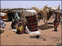 More than 100,000 have fled Darfur