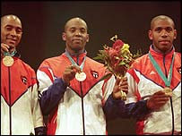 Cuban men's fencing team won bronze at the Sydney Olympics