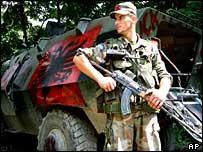 Ethnic Albanian soldier, Macedonia