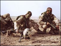 British soldiers during the invasion of Iraq