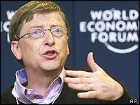 Bill Gates speaking in Davos